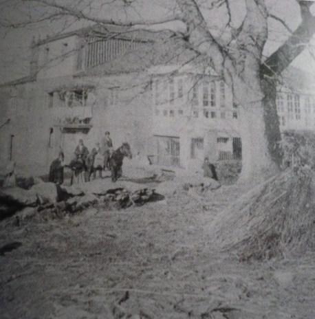 Pazo de Filgueiroa a finales del siglo XIX. Foto cedida por J. Alvarellos